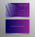 Business card template - modern purple design vector image