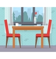 Dining table for date with glasses of wine vector image