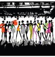 fashion show crowd vector image