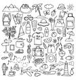 Hand drawn travel set vector image