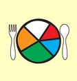 health food vector image