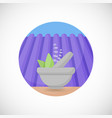 lavender in mortar and pestle flat icon vector image