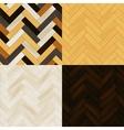 Realistic wooden floor herringbone parquet vector image