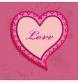 Valentine day heart bubble vector image