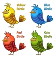 Colorful Funny Birds Set vector image