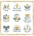 Retro style school logos vector image