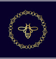logo with insect badge bee for corporate identity vector image vector image