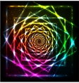Abstract neon spiral background vector image