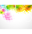 colorful abstract mosaic wave vector image