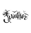 summer silhouette vector image