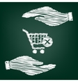Shopping Cart and X Mark Icon delete sign vector image