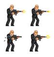Body Guard Gun Shooting Animation vector image
