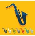 Flat design saxophone vector image