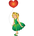 girl with one balloon vector image