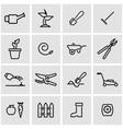 line gardening icon set vector image