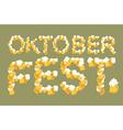 Oktoberfest typography of mug of beer Lettring of vector image