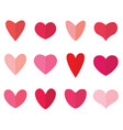 red and pink hearts vector image