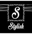 Stylish design Decorated icon Black and white vector image