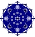 The tracery of snowflakes in the circle Frosty vector image
