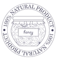 Natural product stamp with honey vector image
