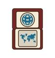 passport identification international travel world vector image