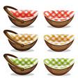 wicker basket set vector image