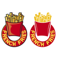 French fries label vector image vector image