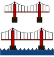 Cartoon bridge vector image vector image