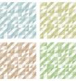 Set of Geometric Retro patterns vector image vector image