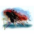 Crows and dandelion vector image