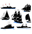 offshore ships set vector image