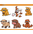 dog characters cartoon set vector image vector image