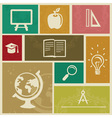 Set with vintage education labels - vector image