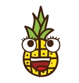 pineapple character isolated icon design vector image