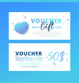 bright set of gift voucher with flower and leaves vector image