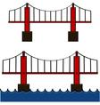 Cartoon bridge vector image