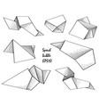 flying empty sheet of paper doodle speech frame vector image