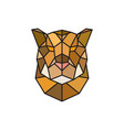jaguar head logo template for business vector image