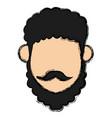 man with turban mustache nativity vector image