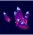 mineral crystals vector image