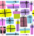 seamless pattern with different doodle great vector image
