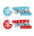 Merry Christmas Snowflake Stickers vector image vector image