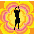 retro female dancer vector image vector image