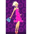 blonde with handbag vector image