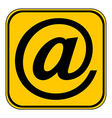 Email button vector image