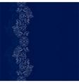 Blue silver floral vintage background vector image