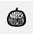 Happy Halloween vintage banner with typography vector image