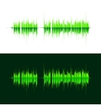 HQ sound waves Music waveform green vector image