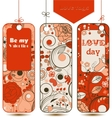 Love tags set vector image