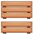 wooden boards on white background vector image